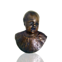Jean-Antoine Houdon [1741-1828] French Singing child, ca.1790s. Bronze 7 x 6 inches Unsigned.
