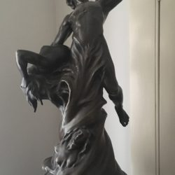"Jean Joseph Perraud [1819-1876] French sculptor bronze ""The Call"" circa 1870"
