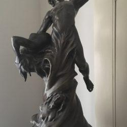"Jean Joseph Perraud [1819-1876] French sculptor bronze ""The Call"" circa 1870"