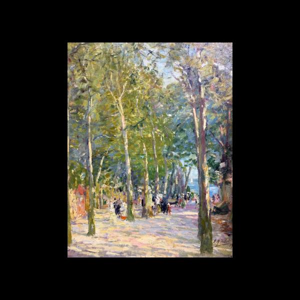 Elie Anatole Pavil [1873-1948] : Figures in the park, 1919.