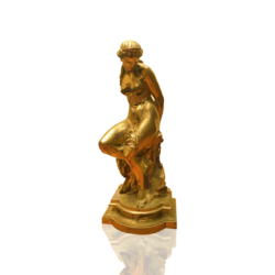 Pierre Alexandre Schoenewerk [1820-1885] French Woman bound, ca.1870 Bronze 22-1/2 inches high