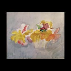 Ernst Morgenthaler [1887-1962] : Early blooms, ca.1950s.