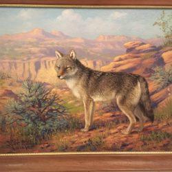 "Robert Lindneux [1871-1970] American artist ""Colorado Wolf"" 1928"