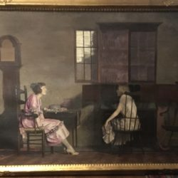 "Waldo Kennard [ 20th century] American ""The Conversation "" circa 1910"