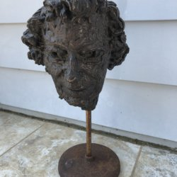 "Thomas Baylis Huxley-Jones [1908 - 1969] British sculpture bronze ""Portrait"" 1967"