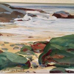 Ottmar Von Fuehrer [1900-1967] American : Tide coming in, Rockport, ca.1950s.