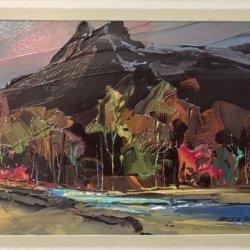 "Merlin Enabnit [1903 - 1979] American ""Western Landscape"" circa 1950's"