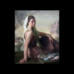 Julio Moises [1888-1968] Spanish : Pescadora, 1920.