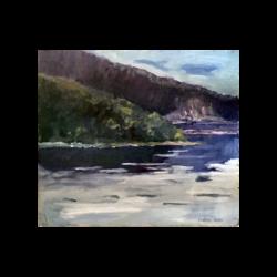 Charles Rosen [1878-1950] American : Quarry sunset, ca.1916.