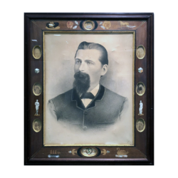American Folk art framed portraits : San Francisco Dec 1888, 1888.