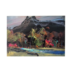 Merlin Enabnit [1903-1979] American : Western landscape, ca.1950s.