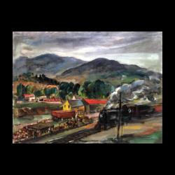 Edwin Booth Grossman [1887-1957] American painter : Upstate, NY (likely Fishkill, NY), ca.1940s.