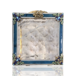 [unattributed] American : Rock crystal, bronze and enamel sewing box, ca.1925.