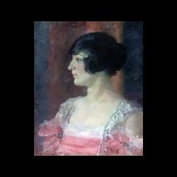 [unattributed] American school : A society portrait—O'Neill, 1916.