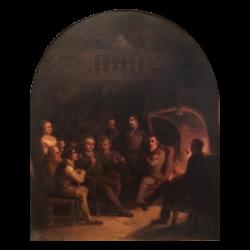 [unattributed] American school : New York tavern scene, 1848.