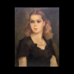 Gaston Jarry [1889-1974] Argentine artist : Young beauty, 1949.