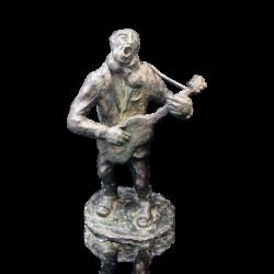Gino Renata Faita [1901-1990] Italian sculptor : Guitar man, ca.1940s.