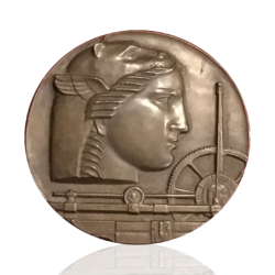 Medallic Art Company : 50th anniversary bronze medal, 1950.