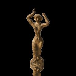 Ruben Robert Kramer [1909-1999] American sculptor : Modernist bronze woman dancing, 1950.