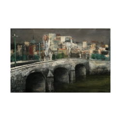 William Thon [1906-2000] American artist : Ponte San Angelo, ca.1947.