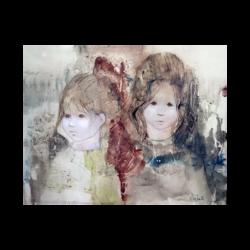 Susan (Shepard) Sahall [ca.1954-2012] : Young girls, ca.1990.