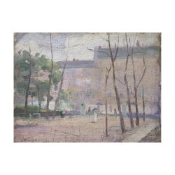 [unattributed] American painting : Sunday in the park, ca.1909.