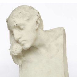 [unattributed] Art Nouveau sculpture : Female bust, 1880.