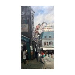 Max-Léon Moreau [1902-1992] Belgian realist painter : Paris streets, ca.1960s.