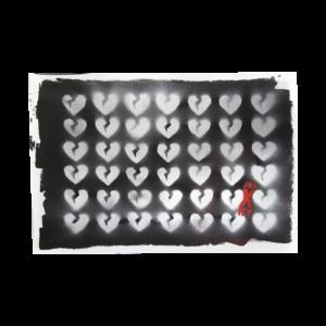 William Eric (Indursky) [alter ego, Jon X NY] [b.1969] : Broken (dark heart), 2019.