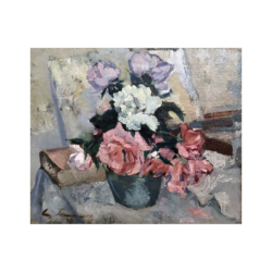 [unattributed] American still-life painting : Flowers, 1934.