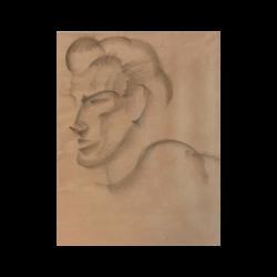 Juan Gris [1887-1927] Spanish / French artist : The cubist head, 1916.