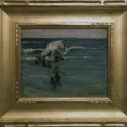 """Adeleine (Wolever) """"Baxter"""" Biersteker [1890-1946] : Ogunquit Beach, ca.1915."""