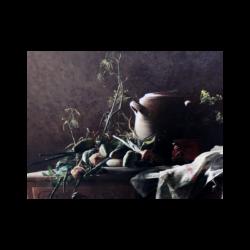 Robert Wylie [1839-1877] American : Tabletop still-life, ca.1870s.