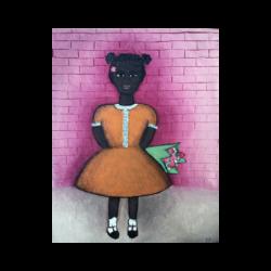 [unattributed] Afro-American school : Bringing flowers, ca.1950.