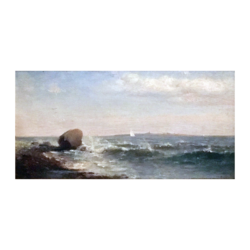 Lemuel David Eldred Jr [1849-1921] American Hudson River School : Seascape, ca.1870s.