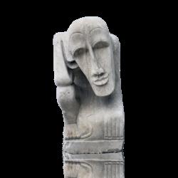 [unattributed] United States Moderne thinking man gargoyle, ca.1940.
