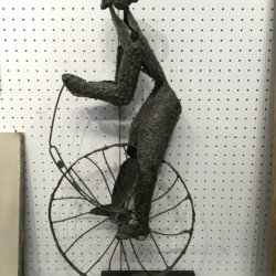 [unattributed] American school bronze : Bicycle rider, ca.1950-60.