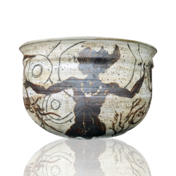Cone Ten Pottery [1969-2007] American hand thrown and decorated bowl : The Odyssey, ca.1980s.