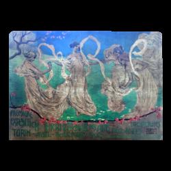 Leonardo Bistolfi [1859-1933] for Doyen di L Simondetti Lithographer : Premiere Exposition Internationale des Arts Decoratifs Modernes, Turin, Avril - Novembre 1902, 1902.