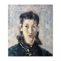 Richard Francis Lahey [1893-1978] American : Portrait of Anna E (Bauman) Mattei [1906-1996] at 27 years old, 1933.