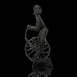[unattributed] American school bronze : Bicycle rider, ca.1950-60.