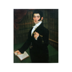 [unattributed] Spanish Colonial / Spanish School painting : Portrait of an opera singer, ca.1835.