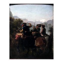 [unattributed] continental school : Soldiers on horseback, ca.1700.