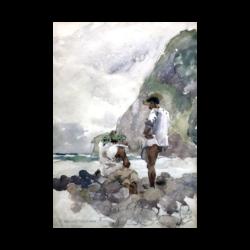 Charles Nicolas Sarka [1879-1960] : Waimano Valley men, Hawaii, 1903.