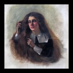Francis Davis Millet [1846-1912] American artist : Hester Prynne, The Scarlett [sic] Letter, ca.1908.