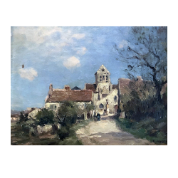 Jean Eugène Julien Massé [1856-1950] French : Village landscape, ca.1880.