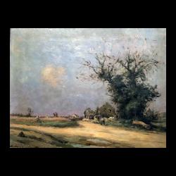 Jean Eugène Julien Massé [1856-1950] : Village landscape, ca.1880.