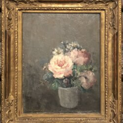 Henri-Julien Dumont (1859-1933) : Floral still-life, ca.1927.