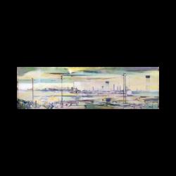 Jean Théobald Jacus (1924-) : French industrial modernist landscape, ca.1954.