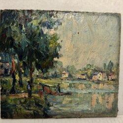 Donald Deskey (1894-1989) : Landscape, 1927.